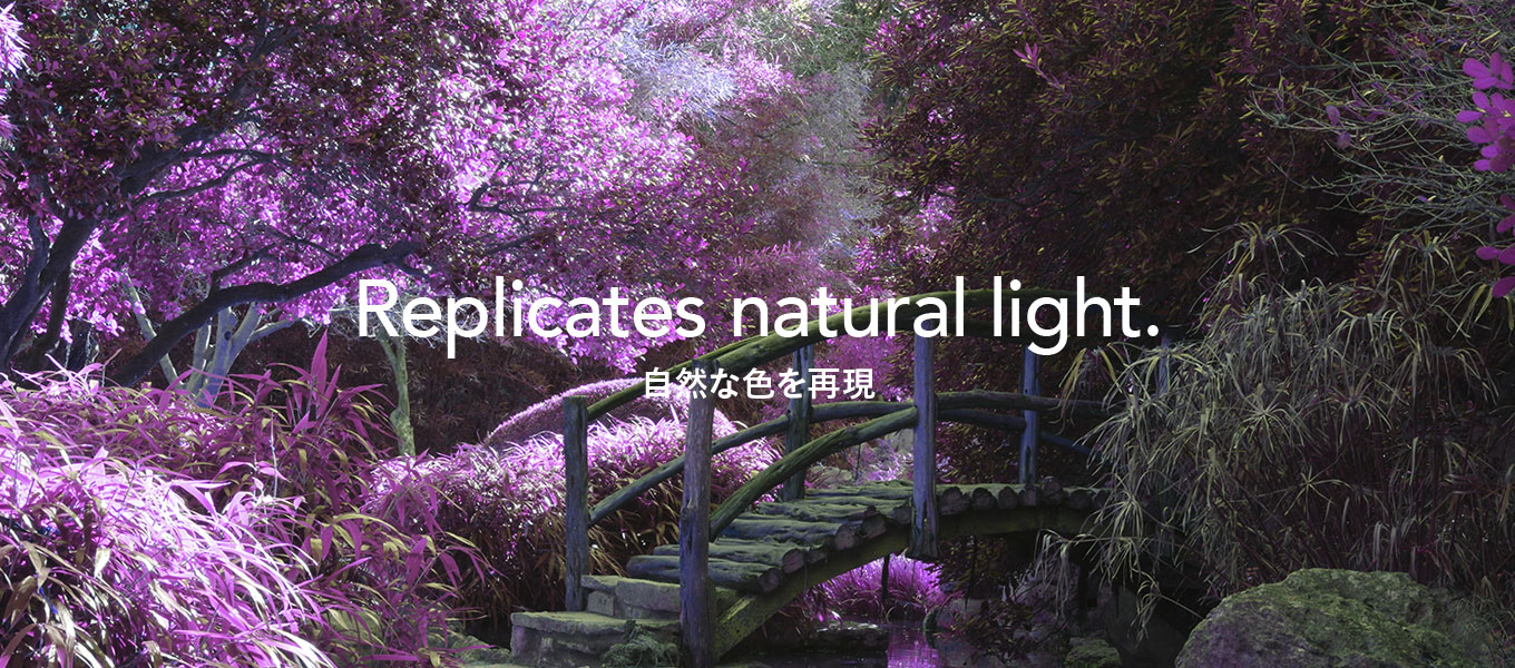 Replicates natural light. 自然な色を再現